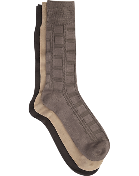 194885894c6e8 Pronto Uomo Brown Socks, 3-Pack - Men's Accessories | Men's Wearhouse