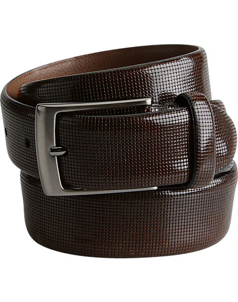 b3626757ff83d Joseph Abboud Brown Embossed Belt - Mens Joseph Abboud Collection