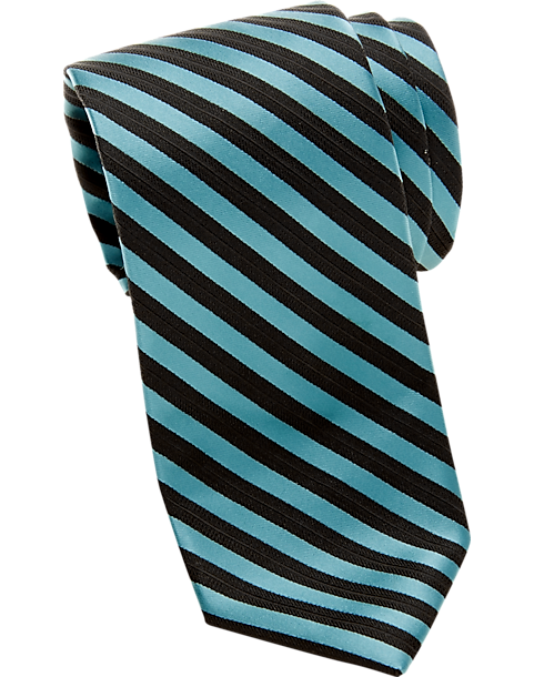 Egara Teal Stripe Skinny Tie (various colors)