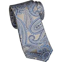MensWearhouse.com deals on Joseph Abboud Blue Paisley Narrow Tie