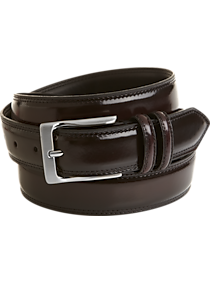 dcfb725bb2a27 Mens Home - Men s Wearhouse Burgundy High Gloss Leather Belt - Men s  Wearhouse