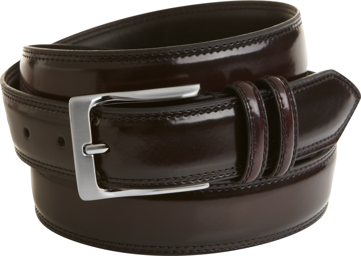 s wearhouse burgundy high gloss leather belt s