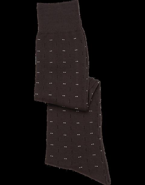 74edc857db320 Pronto Uomo Brown Over-the-Calf Dress Socks - Men's Accessories ...