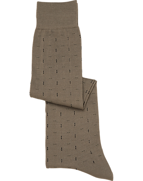 142607cbe5bc5 Fancy Over-The-Calf Taupe Socks - Men's Accessories | Men's Wearhouse