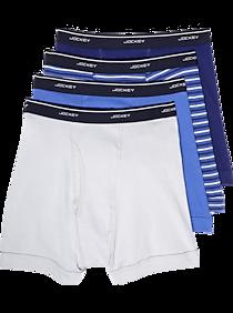 Jockey Multicolor Blue Full-Rise Boxer Briefs 4-Pack