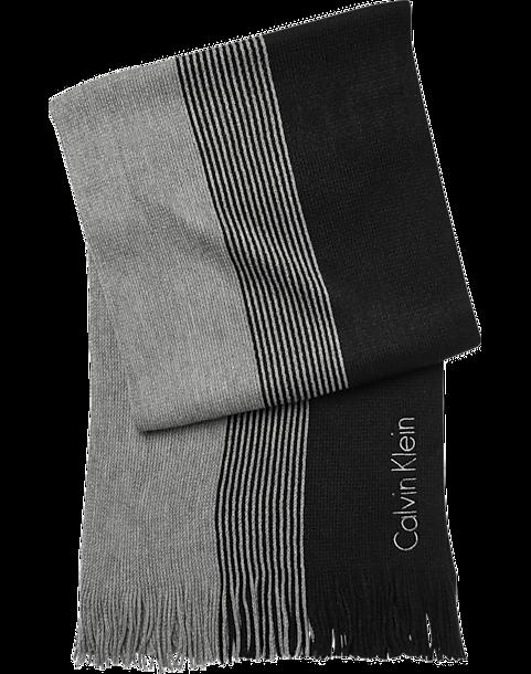 Calvin Klein Black   Gray Scarf - Men s Scarves 371fb19fe21
