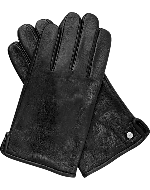 Calvin Klein Black Leather Gloves