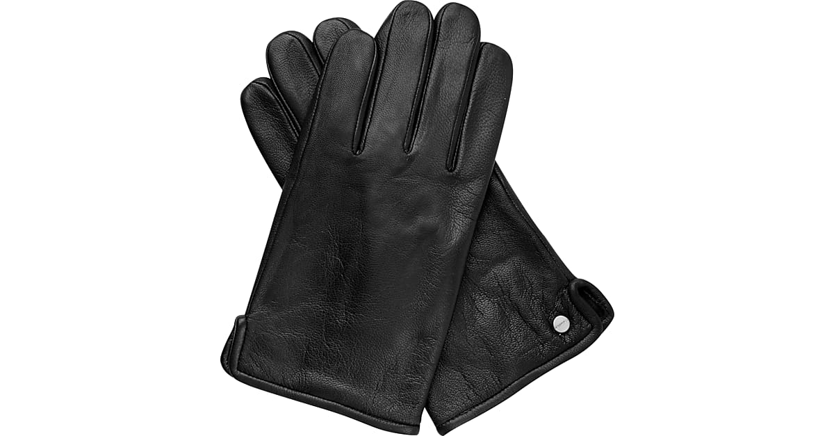 dfcd0a769f9 Calvin Klein Black Leather Gloves - Men s Accessories
