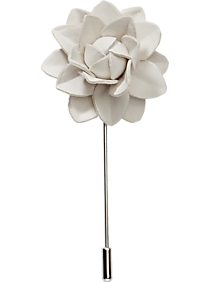 Pronto Uomo White Floral Lapel Pin