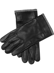 Wearhouse Black Leather Gloves