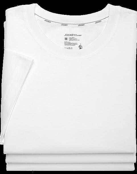 31126baf Jockey White Slim Fit Crewneck T-Shirts (3 pack) - Mens Accessories,
