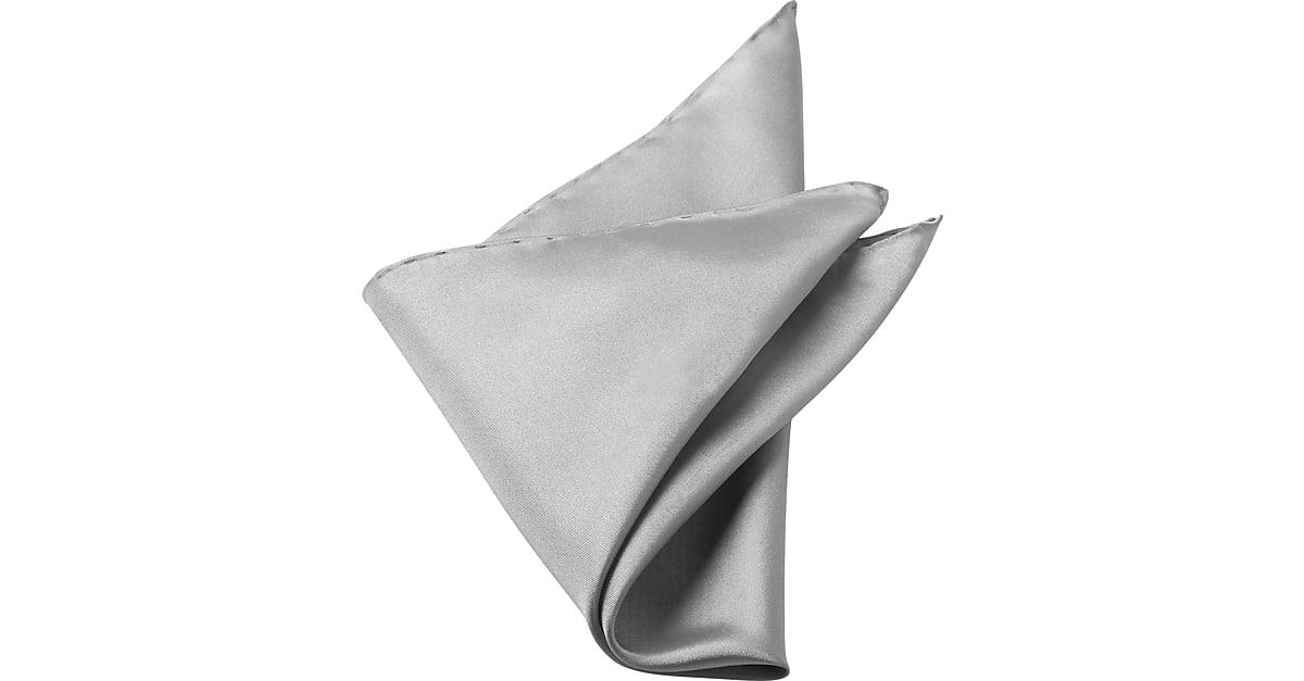 c4ea74013a40 Men s Wearhouse New Silver 100% Silk Pocket Square - Men s Accessories