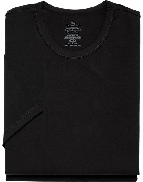 6296ad5e58567b Calvin Klein Black Crew Neck Cotton Stretch Tee Shirt, 2-Pack ...