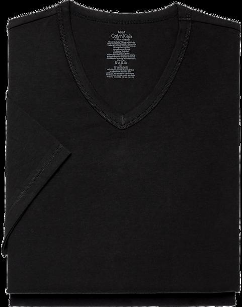 c0ff1458a Calvin Klein V-Neck Cotton Stretch Tee Shirt