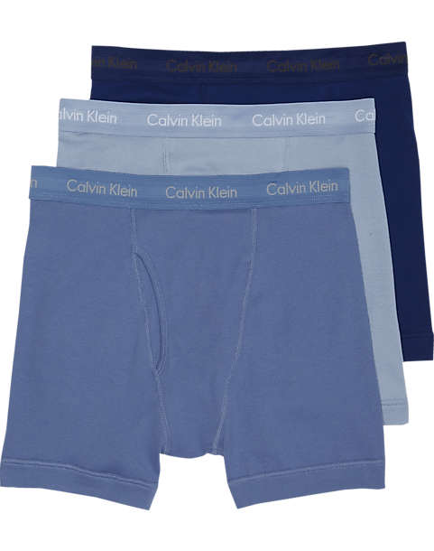 b8dbeba03822 Calvin Klein Blue Cotton Classic Boxer Briefs, 3-Pack - Men's ...