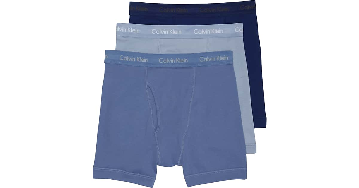 calvin klein blue cotton classic boxer briefs 3 pack. Black Bedroom Furniture Sets. Home Design Ideas