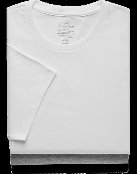 BlackWhiteamp; Fit Tee Calvin Crew Gray Neck Shirt3 Pack Classic Klein hdrstQ