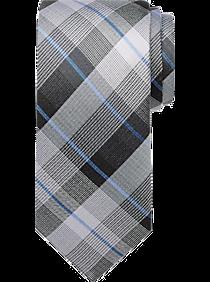 03cd47dbd1282 Mens Accessories - Pronto Uomo Gray   Blue Plaid Narrow Tie - Men s  Wearhouse
