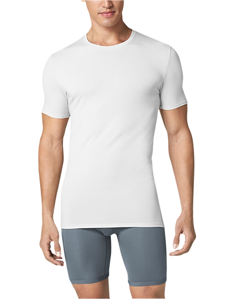 Tommy John Second Skin High Crew Neck Stay Tucked Undershirt, White