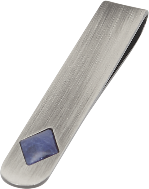 99b5c96f4b9d Joseph Abboud Blue Stone and Silver Tie Bar - Men's Accessories ...