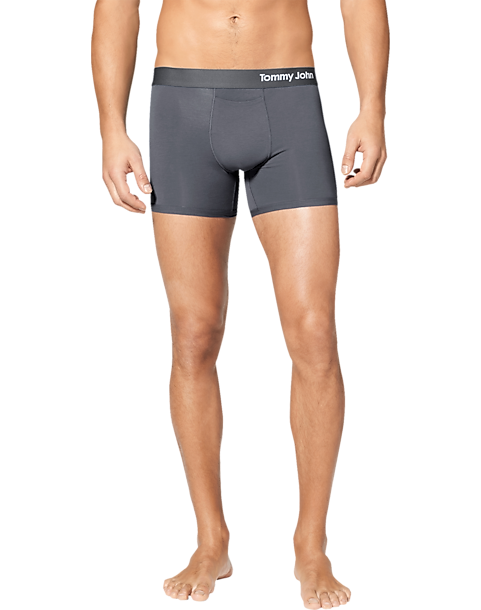 8fff3bbea94ad Tommy John Cool Cotton Gray Trunks - Men's Accessories | Men's Wearhouse