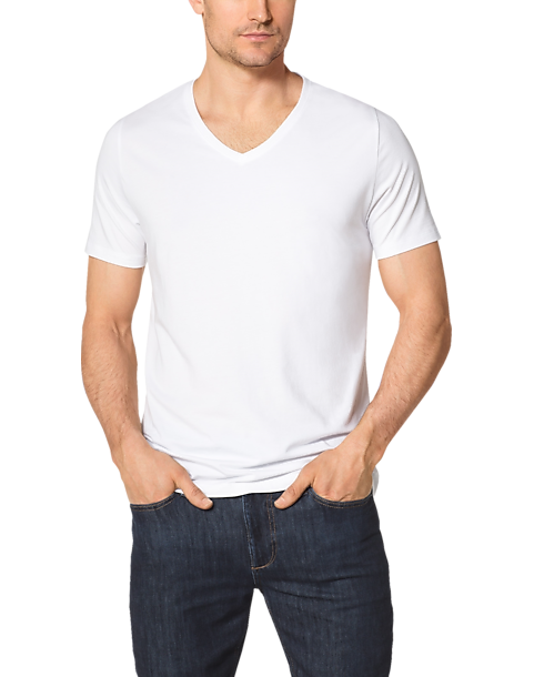 f097c64a Tommy John Cool Cotton White V- Neck T-Shirt - Men's Accessories ...