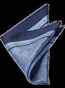 47fc66bc91d8a Mens Joseph Abboud Collection, Clothing - Joseph Abboud Navy & Blue  Medallion Pocket Square -