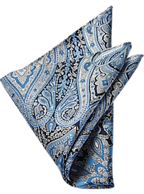 7ef1f3c9581b Mens Accessories - Joseph Abboud Navy   Blue Paisley Pocket Square - Men s  Wearhouse