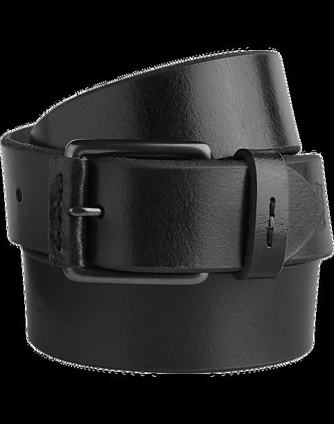 f5abf6a3cfb02f Levi's® Black Leather Belt - Men's Accessories | Men's Wearhouse