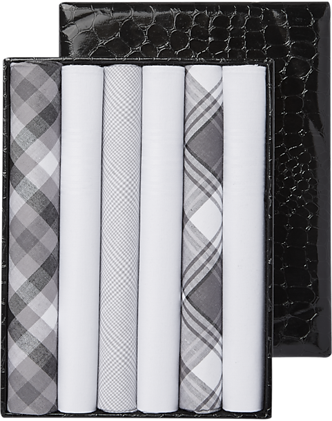 Joseph Abboud Grey Handkerchiefs 6 Pack Mens Gifts Under 25 Gift