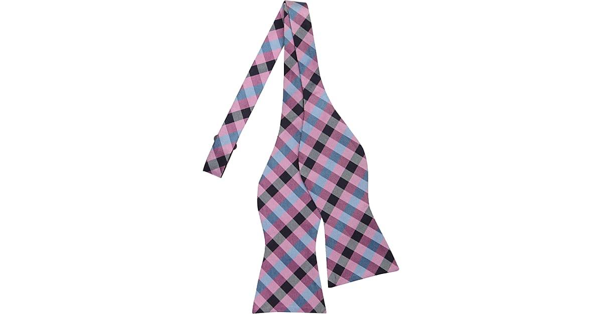 d3f2b8e3b65389 Tommy Hilfiger Pink Check Bow Tie - Men s Accessories