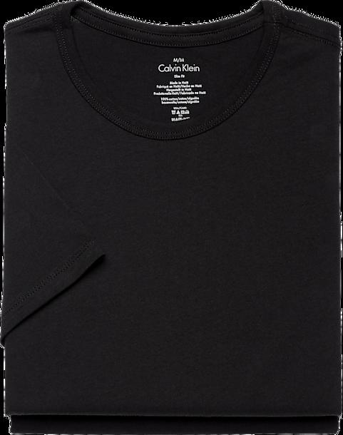 Calvin Klein Black Crew Neck Slim Fit Cotton Classics Big Tee Shirt ... 0386443cc