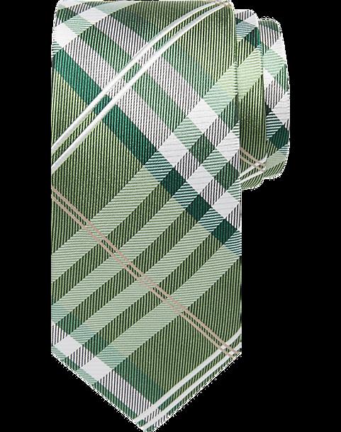 92d6324059fd Pronto Uomo Green Plaid Narrow Tie - Mens Accessories - Men's Wearhouse