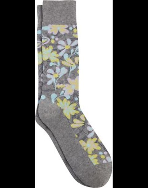 796802fd6ffb Egara Gray Floral Dress Socks, 1 pair - Men's Accessories   Men's ...