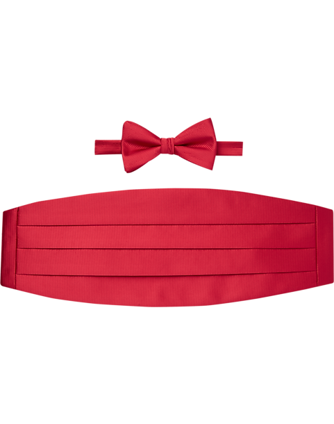 1572aca7a1bbf Calvin Klein Red Bow Tie   Cummerbund Set - Men s Clothing