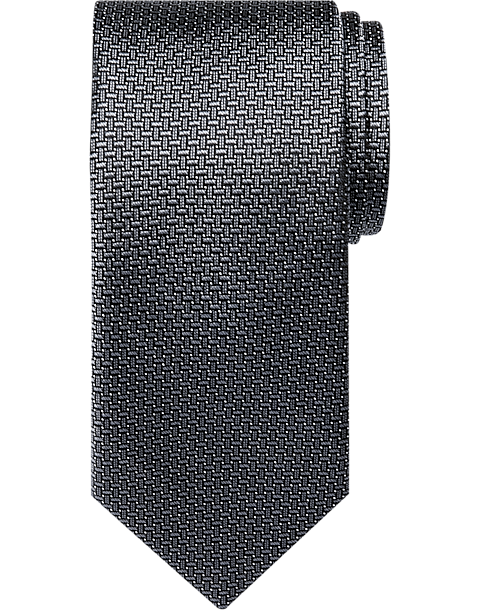 fcaae3a18904 BLACK by Vera Wang Charcoal Weave Narrow Extra Long Tie - Men's Accessories  | Men's Wearhouse