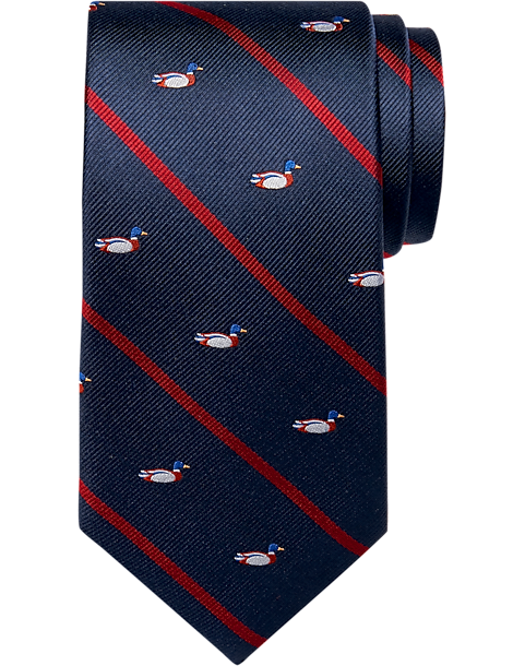 Accessories Pocket Squares Tommy Hilfiger-two Tommy Hilfiger Silk Pocket Squares Red Blue