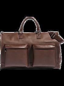 51bf8dfc456be Mens Home - Hook & Albert Brown Leather Garment Weekender Bag - Men's  Wearhouse