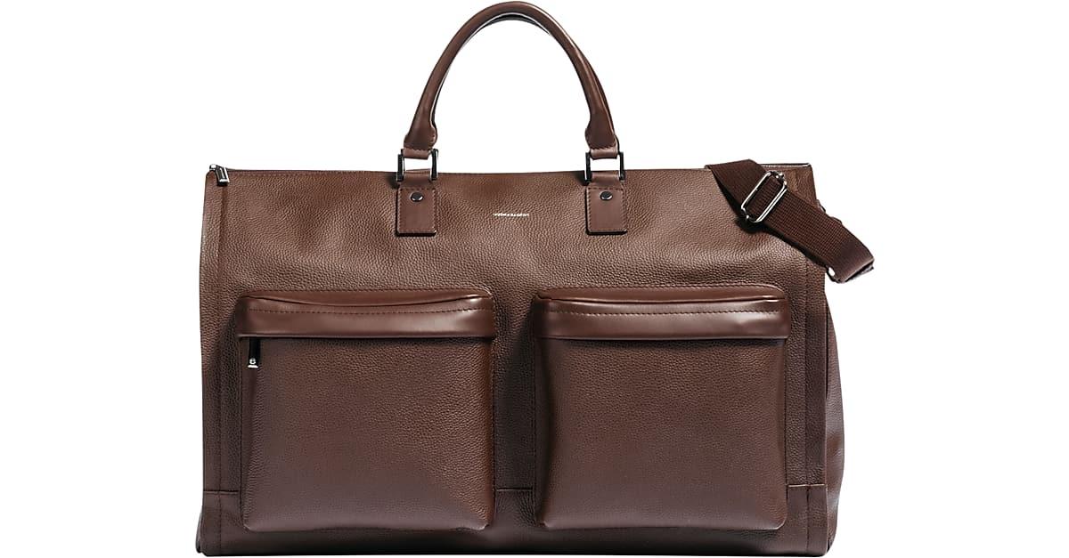 bb4f854e212d Hook & Albert Brown Leather Garment Weekender Bag - Men's Accessories |  Men's Wearhouse