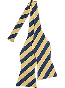 29d17f31 Mens Clearance, Sale - Tommy Hilfiger Yellow & Blue Stripe Self Tie Bow Tie  -