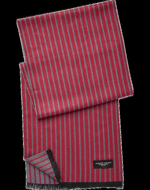 7e62c85bc47 Pronto Uomo Red   Gray Stripe Scarf - Men s Scarves