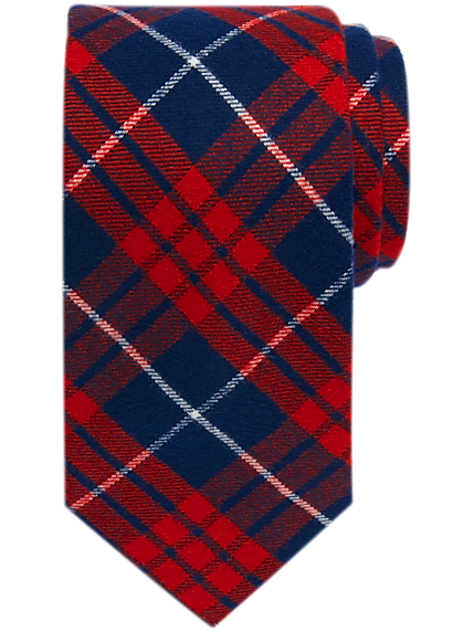 Tommy Hilfiger Red Tartan Narrow Tie (Multiple colors)