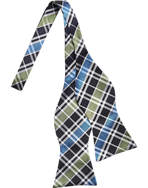 c33868f7f0 Tommy Hilfiger Green and Blue Plaid Bow Tie - Men's Accessories ...