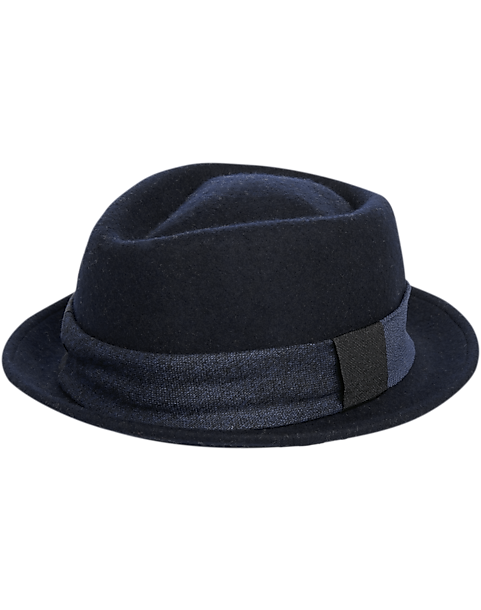 97db43398148f AQS Blue Fedora - Men's Accessories | Men's Wearhouse