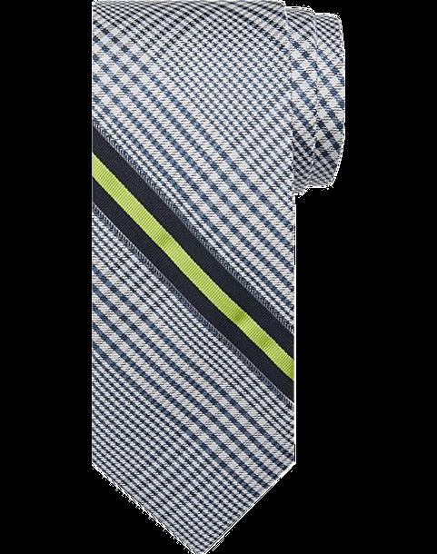 fd5bec8174b1 Calvin Klein Green Stripe & Navy Plaid Tie - Men's Accessories ...