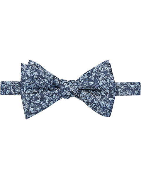"Men/'s Gray Floral Pre-Tied Bow Tie /& 8/"" x 8/"" Pocket Square"