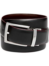 2-Pack Egara Black & Dark Brown Reversible Leather Belt