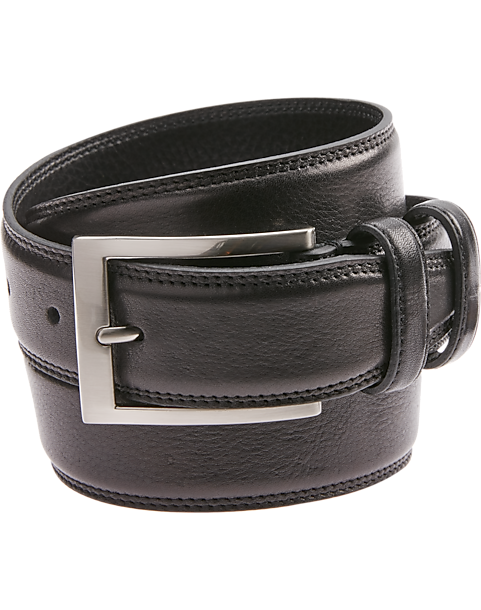 2-Pack Joseph Abboud Black Leather Belt