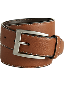 2-Pack Men's Wearhouse Tan Pebbled Finish Leather Belt