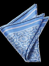 8c4db24b682a Mens Pocket Squares, Accessories - Pronto Uomo Blue Medallion Pocket Square  - Men's Wearhouse